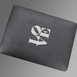 ... for your apple inspired by robert indiana quote set of laptop decals