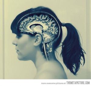 Funny photos funny girl brain radiograph MRI