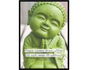 Tiny Baby Buddha Quote Art Print / High Quality Poster / Wall Art ...