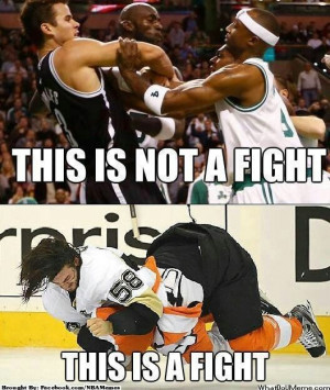 Hockey fights are real fights