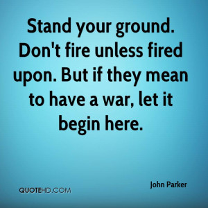 Stand Your Ground Quotes
