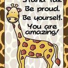 FREEBIE - Zoo Animals Giraffe Positive Quote Poster {Jungle Safari ...