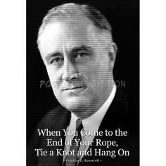 Franklin D. Roosevelt Hang On Quote Poster $5.80 #poster #print # ...