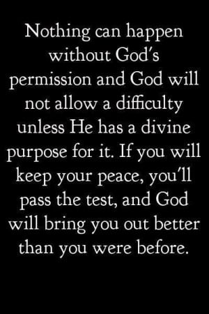 ... devil has no authority over you life other than what you God allows
