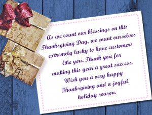 We take this day, especially, to thank you for being our family in ...