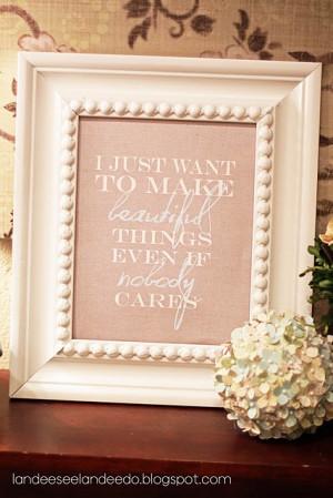 Make Beautiful Things @ Landee See Landee Do