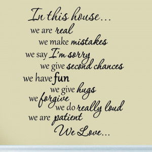 In-This-House-We-Are-Real-Family-Wall-Decal-Quote-Saying-Sticker-Home ...