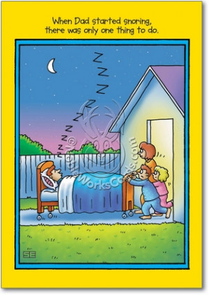 Dad Snoring Naughty Funny All Occasions Card Nobleworks