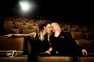 Corey Taylor e sua esposa Stephanie Luby