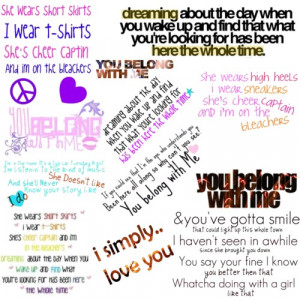 You Belong With Me Quotes - Polyvore