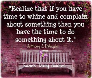 Whine and complain