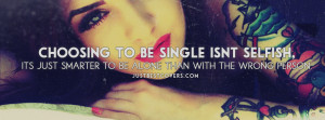 Choosing To Be Single Facebook Cover Photo