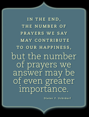 LDS Quotes On Prayer