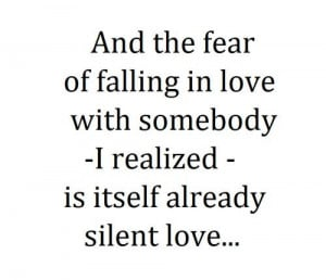 Quotes about not falling in love too fast