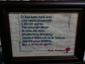 ... mixed media textile art cross stitch art cross stitched quote cloth