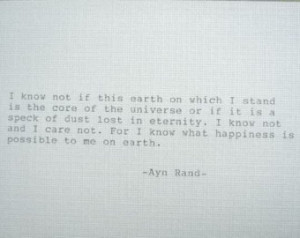 Ayn Rand Quotes Anthem Ayn rand quote hand typed