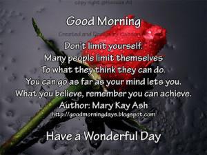 Self Improving Inspiring Quotes: Good Morning Tuesday 8