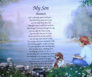 Details about MY SON POEM PERSONALIZED GIFT BOY FISHING ROOM DECOR
