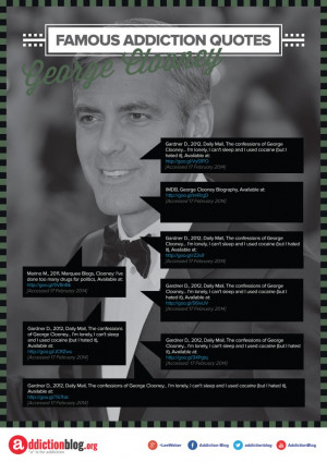 George Clooney's quotes on drug and alcohol use (INFOGRAPHIC)
