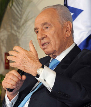 Israeli Government Press Office, Israeli President Shimon Peres holds ...
