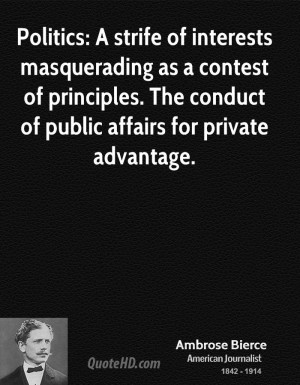 Ambrose Bierce Politics Quotes