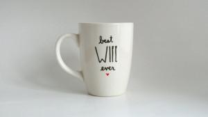 Best Wife Ever Quote Hand Illustrated Art Mug 12 oz Dishwasher Safe