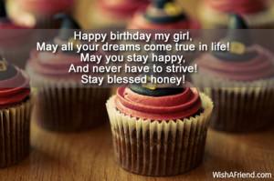 Happy birthday my girl,May all