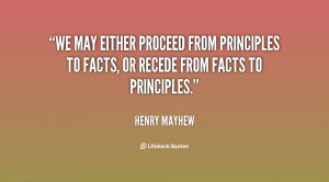 ... from principles to facts, or recede from facts to principles