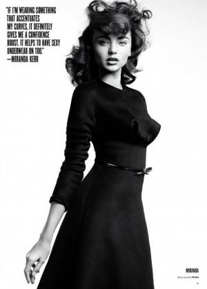 Miranda Kerr's big curly hair.