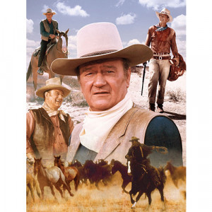 ... > Male Movie Stars >John Wayne America's Cowboy 1000 Piece Puzzle