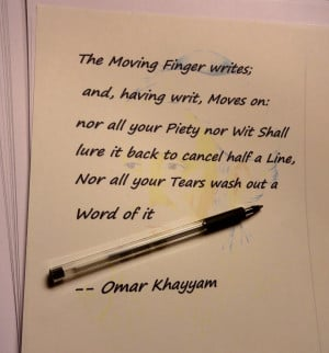Moves on: – Omar Khayyam motivational inspirational love life quotes ...