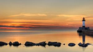 Daybreak at the lake.