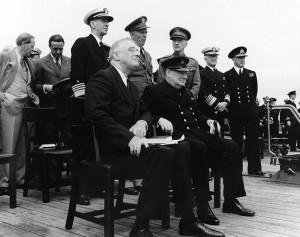 Atlantic Conference -Churchill Roosevelt