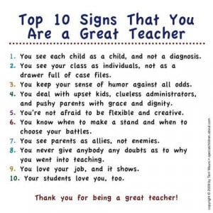 ... sized version on being a teacher teaching to the test is not included