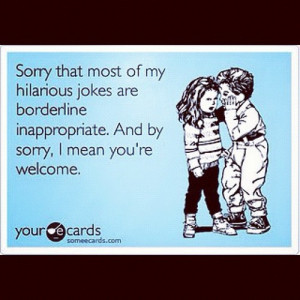 You're welcome!! #ecards #funny (Taken with Instagram )