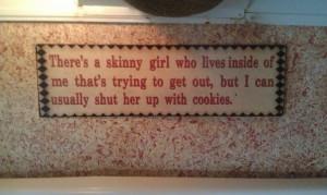 Skinny girl and cookies