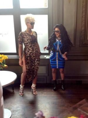 Lil Kim & her Artist Tiffany Fox