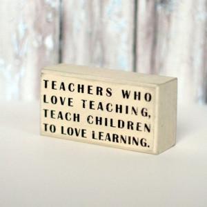 Box Sign - Teachers