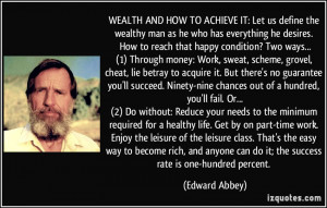 WEALTH AND HOW TO ACHIEVE IT: Let us define the wealthy man as he who ...