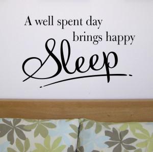 Happy Sleep - Bedroom wall quote sticker - WA260X