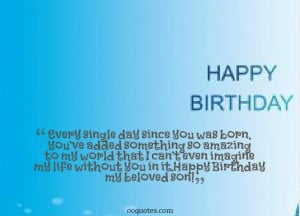 ... 21st, 2014 Leave a comment Birthday , picture son s birthday quotes