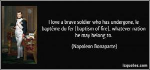 love a brave soldier who has undergone, le baptême du fer [baptism ...