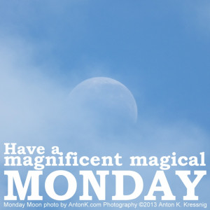 Have a magnificent magical Monday Moon blue sky misty clouds photo by ...