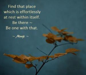 mooji #quote #inner peace #harmony