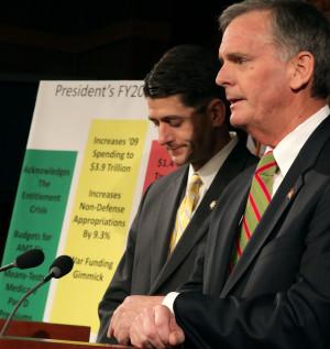 Judd Gregg Holds Press Conference Obama Budget RnlJ DrBB3bx jpg