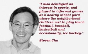Steven chu famous quotes 3