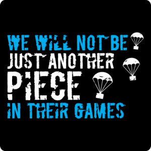 Just Another Piece Katniss Everdeen Quote T-Shirt (Sky & White)