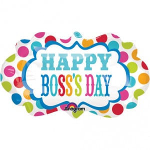 Boss's Day Dots Marquee Super Shape
