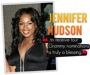 "Jennifer Hudson ""Honored"" by Grammy Nods"