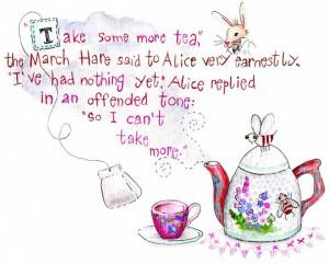 Alice in Wonderland Tea Quotes